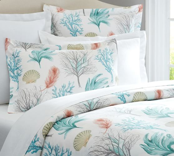 Del Mar Coastal Duvet Cover Amp Sham Pottery Barn