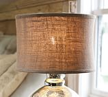 Burlap Flared Drum Lamp Shade, Small, Natural