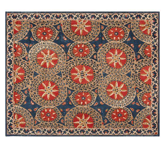 Jessa Suzani Printed Rug - Multi