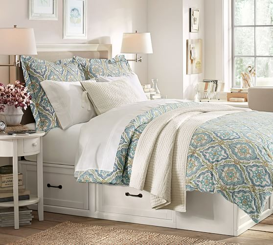 Pottery Barn Platform Bed With Storage: Stratton Storage Platform Bed With Drawers