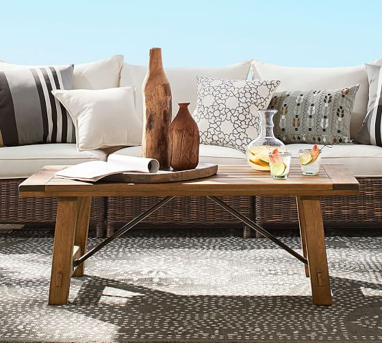 Pottery Barn Benchwright Coffee Table Seadrift: Benchwright Outdoor Coffee Table
