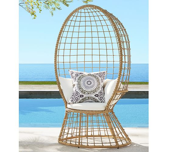 peacock all weather wicker chair pottery barn. Black Bedroom Furniture Sets. Home Design Ideas