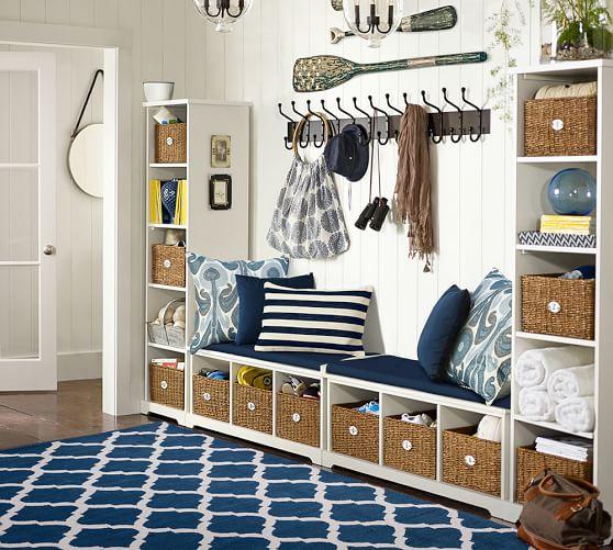samantha 4 piece bench bookcase entryway set pottery barn. Black Bedroom Furniture Sets. Home Design Ideas