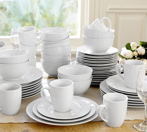 caterer 39 s 12 piece dinnerware set pottery barn