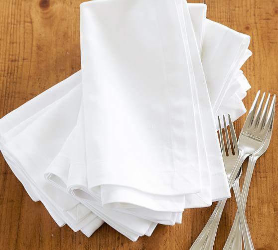 Caterer's 6-Piece Dinner Napkin Set, White