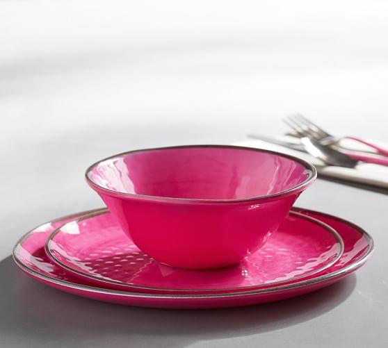 Swirl Melamine Dinnerware Pink Pottery Barn