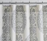Lucianna Medallion Shower Curtain, Gray