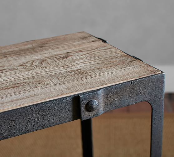 Clint Reclaimed Wood Console Table Pottery Barn