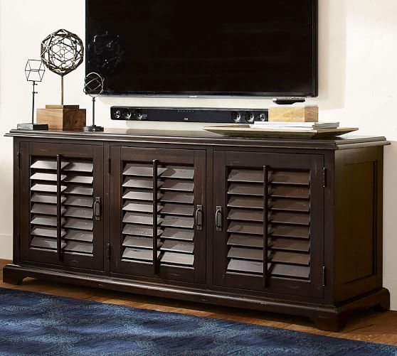 Holstead Shutter Large Media Console Pottery Barn