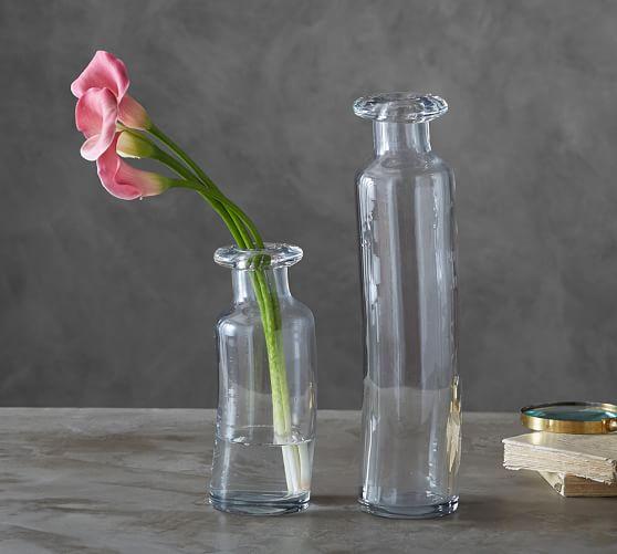 Rolled Lip Glass Vase