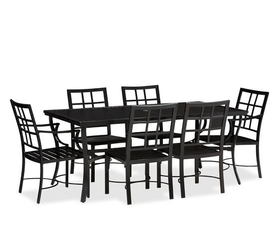 Riviera Rectangular Table Set (Table + 4 Side & 2 Armchairs)
