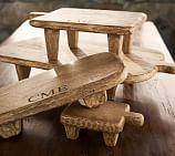Blond Wood Paddle Pedestal, Small