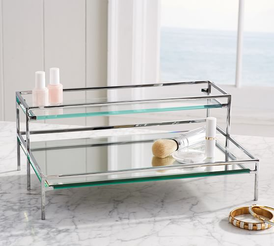 Mirrored Makeup Storage  Pottery Barn