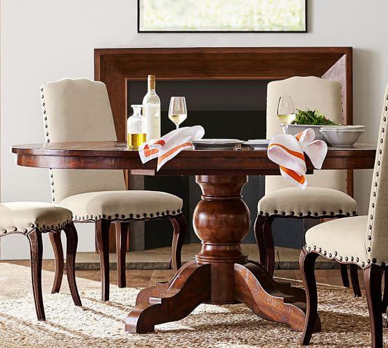 sumner extending pedestal dining table pottery barn. Black Bedroom Furniture Sets. Home Design Ideas