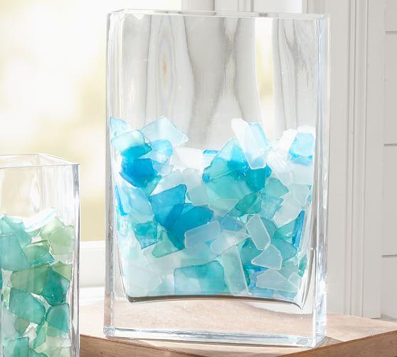 Sea Glass Vase Filler, Blue