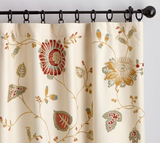Margaritte Embroidered Drape, 50 x 84