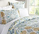 Cora Paisley Organic, Duvet Cover, Twin, Blue Multi