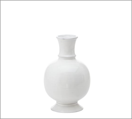 Rustic White Vase, Small