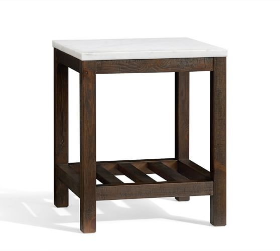 Connor Side Table Marble Pottery Barn