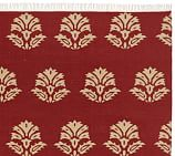 Enzo Medallion Dhurrie Rug Swatch, Red