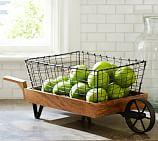 Vintage Blacksmith Wheelbarrow Storage Basket