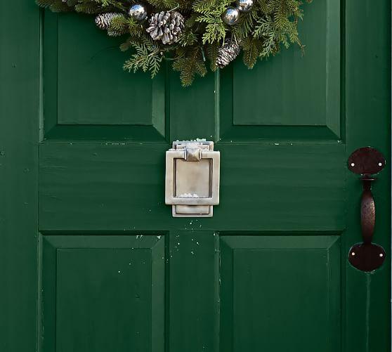 Square Metal Door Knocker, Vintage Pewter finish