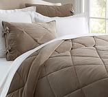 Velvet Comforter, Full/Queen, Brownstone