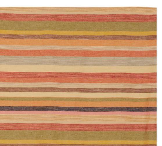 Logan Stripe Bedding Swatch, Multi