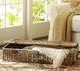 Daytrip Lidded Split Rattan Basket, Underbed Storage