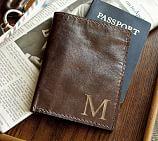 Saddle Leather Passport Case, Chocolate