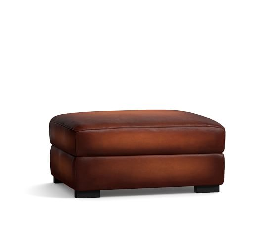 Turner Leather Ottoman 34.5