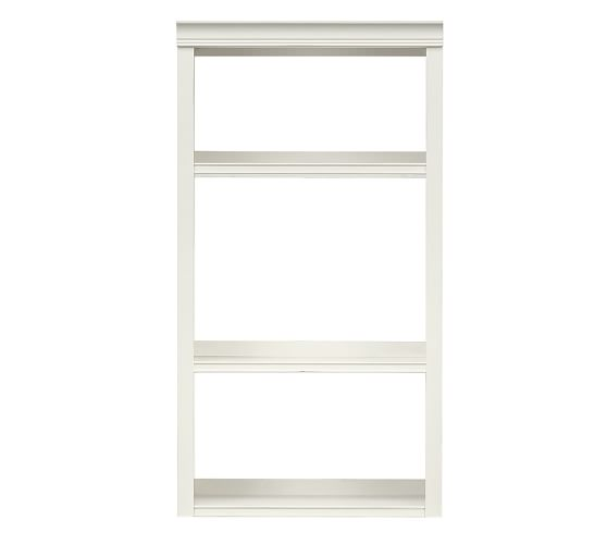"""Logan Hutch with Open Shelving, 24"""" Antique White"""
