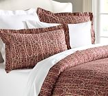 Larson Paisley Duvet Cover, Twin, Red