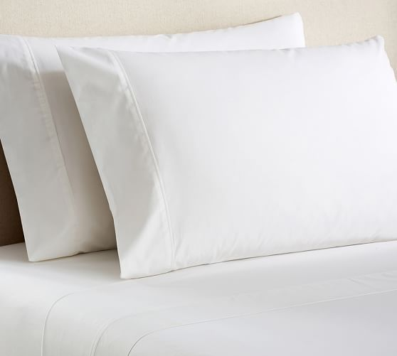 PB Classic 400-Thread-Count Extra Pillowcases, Set of 2, Standard, White