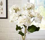 Faux Ivory Hydrangea Stem