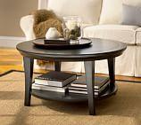 Metropolitan Round Coffee Table, Black