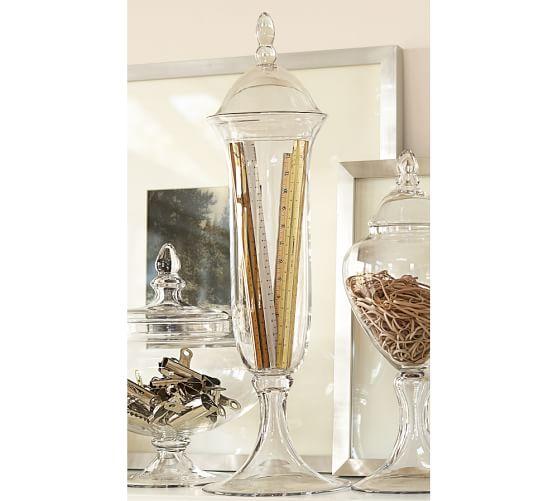 Voluminous Handblown Glass Canister, Large