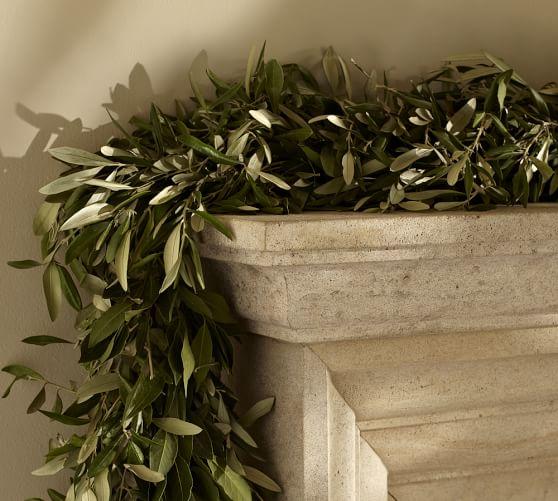 Live Olive Leaf & Myrtle Garland