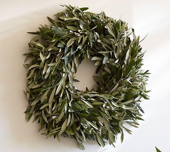 Live Olive Leaf & Myrtle Wreath
