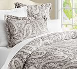 Finley Paisley Duvet Cover, Twin, Anthracite