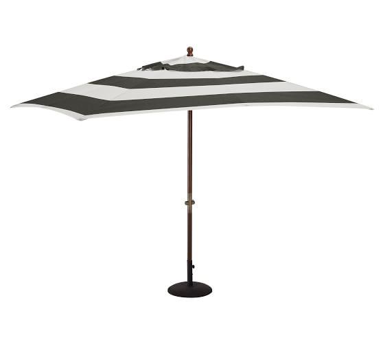 Rectangular Umbrella Canopy Replacement - Sunbrella® Awning Stripe, Black/White