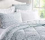 Terri Trellis Comforter, Twin, Porcelain Blue