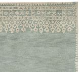 Desa Bordered Wool Rug Swatch, Blue