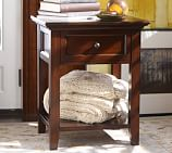 Hudson Bedside Table, Mahogany stain