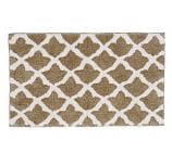 "Marlo Jacquard Bath Rug, 21x34"", Light Truffle"