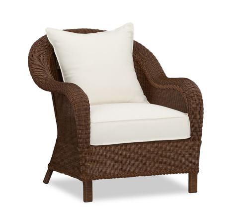 Palmetto All-Weather Wicker Armchair, Honey