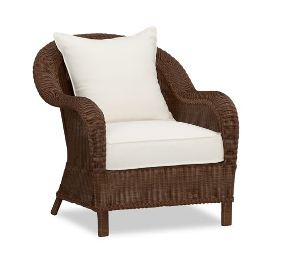 Palmetto All-Weather Wicker Armchair, Honey