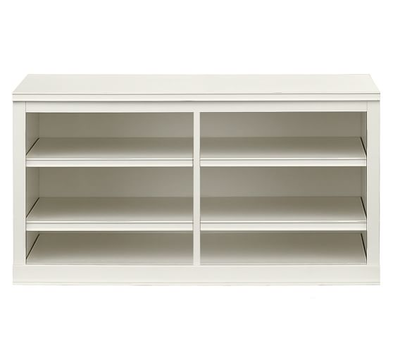 Logan Modular Small TV Stand, Antique White