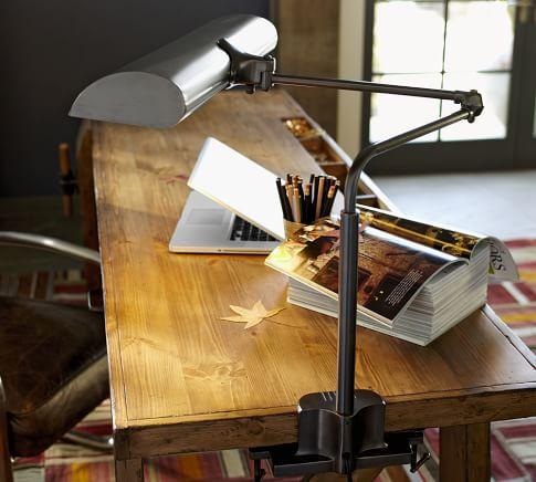 Princeton Clasp Task Table Lamp, Bronze finish