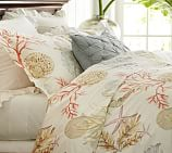 Atlantic Coral Duvet Cover, Twin, Multi